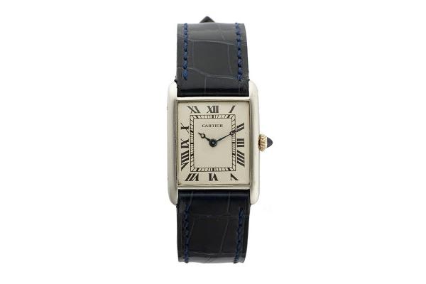 Vintage Cartier Platinum Tank Watch, circa 1924