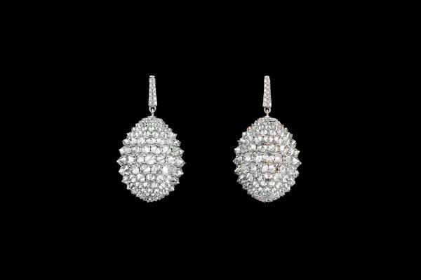 Diamond Drop Earrings by Harry Fane