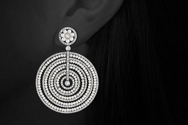 Pearl and Diamond Earrings by Harry Fane